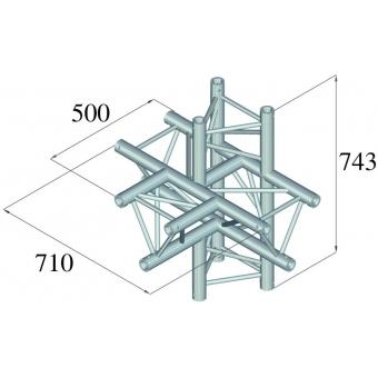 ALUTRUSS TRILOCK 6082AT-51 5-Way Piece / #2