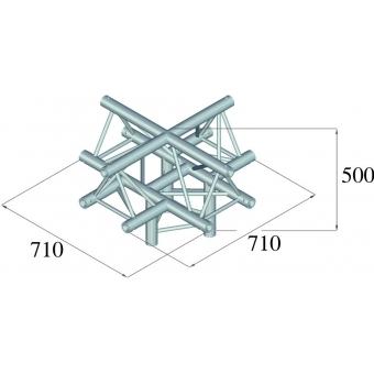 ALUTRUSS TRILOCK 6082AC-52 5-Way Piece / #2