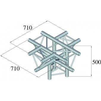ALUTRUSS TRILOCK 6082AC-53 5-Way Piece / #2