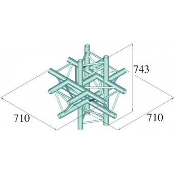 ALUTRUSS TRILOCK 6082AC-61 6-Way Piece #2