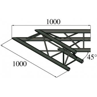 ALUTRUSS TRILOCK S-PAC 19 2-Way Corner 45° black