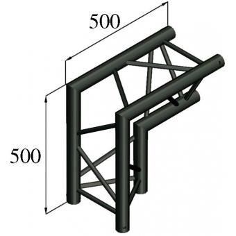 ALUTRUSS TRILOCK S-PAC 25 2-Way-Corner 90°/ black