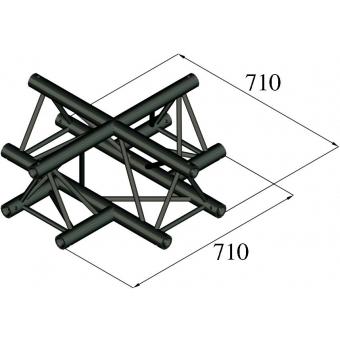 ALUTRUSS TRILOCK S-PAC-41 4-Way Cross
