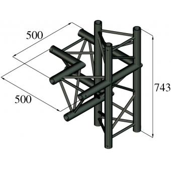ALUTRUSS TRILOCK S-PAC-45 4-Way Piece / right