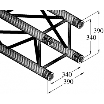 ALUTRUSS QUADLOCK TQ390-500 4-Way Cross Beam #8