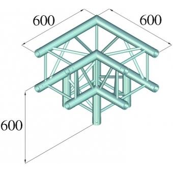 ALUTRUSS QUADLOCK TQ390-QQL30 3-Way-Corner 90° #2