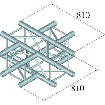 ALUTRUSS QUADLOCK TQ390-QQT41 4-Way Cross Piece #2
