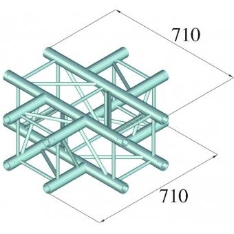 ALUTRUSS QUADLOCK 6082C-41 4-Way Cross Piece #2