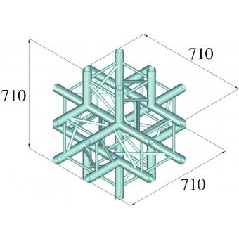ALUTRUSS QUADLOCK 6082C-61 6-Way Cross Piece #3