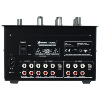 OMNITRONIC PM-222 2-Channel DJ Mixer #3