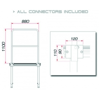 GUIL TMQ-01/440 Stage rail 88cm