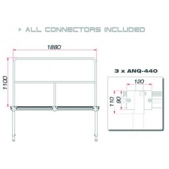 GUIL TMQ-02/440 Stage rail 188 cm