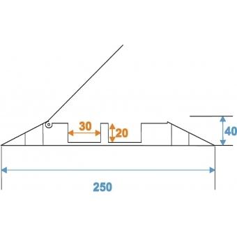 EUROLITE Cablebrigde 2 Channels 1000x250mm #6