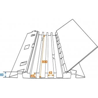 EUROLITE Cablebridge 4 Channels 800mm x 550mm #6