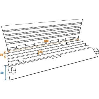 EUROLITE Cablebridge 5 Channels 800mm x 450mm #6