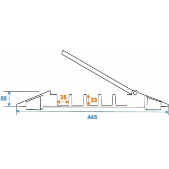 EUROLITE Cablebridge 5 Channels 800mm x 450mm #7
