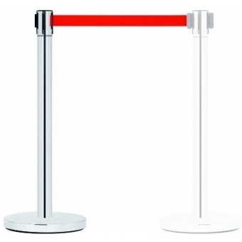 GUIL PST-11 Barrier System with Retractable Belt (red)