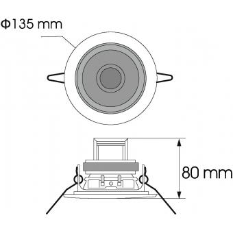 OMNITRONIC CS-4G Ceiling Speaker gold #3