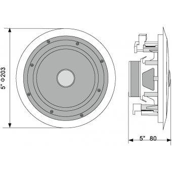 OMNITRONIC CST-5 2-Way Ceiling Speaker #6