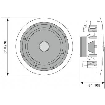 OMNITRONIC CST-8 2-Way Ceiling Speaker #6