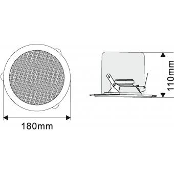 OMNITRONIC CSC-4 Ceiling Speaker #4