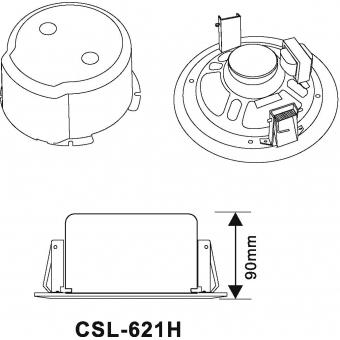 OMNITRONIC CSC-6 Ceiling Speaker #7