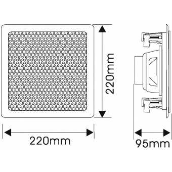 OMNITRONIC CSQ-5 Ceiling Speaker #6