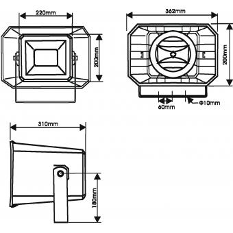 OMNITRONIC HS-60 PA Horn Speaker #5