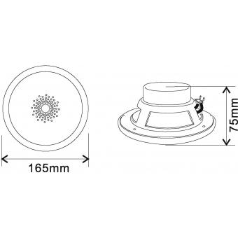 OMNITRONIC WF-5 Flush-Mount Speaker #5