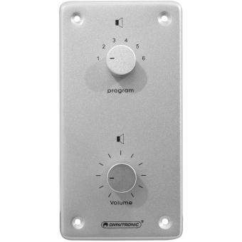 OMNITRONIC PA Vol Contr/Prog Select 10W mono bk