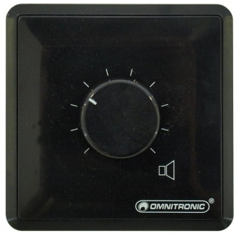 OMNITRONIC PA Volume Controller 10W stereo bk