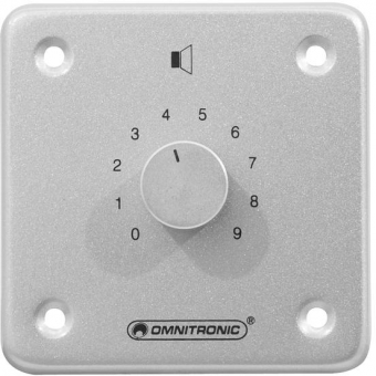 OMNITRONIC PA Volume Controller 10W stereo sil
