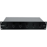 OMNITRONIC PA 6-Zone Stereo Vol Cont 5W bk