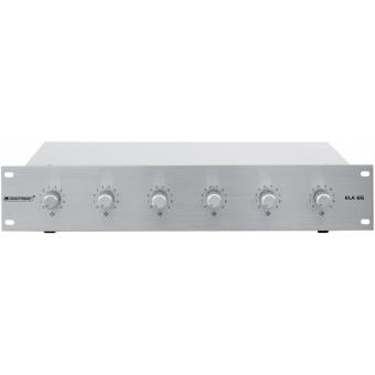 OMNITRONIC PA 6-zone stereo vol cont 5W sil #5