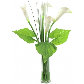 EUROPALMS Calla in glass, 64cm #1