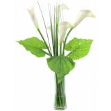 EUROPALMS Calla in glass, 64cm