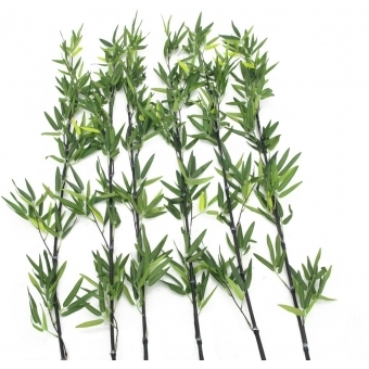 EUROPALMS Bamboo tube with leaves, 180cm, sixpack #2
