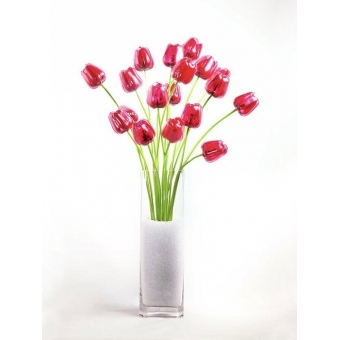 EUROPALMS Crystal tulip, red 61cm 12x #4
