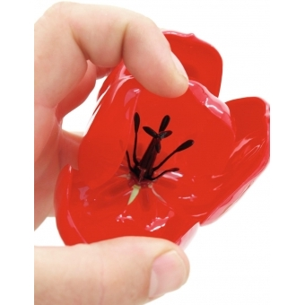 EUROPALMS Crystal tulip, red 61cm 12x #6