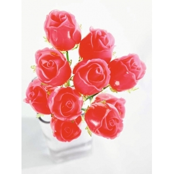 EUROPALMS Crystal rose, burgundy 81cm 12x #4