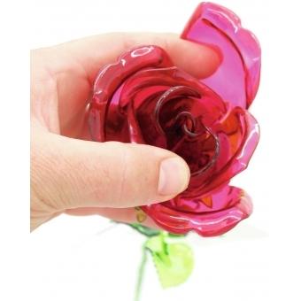EUROPALMS Crystal rose, burgundy 81cm 12x #5