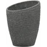 EUROPALMS Deco cachepot STONA-62, round, grey