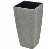 EUROPALMS Deco cachepot STONA-56, cubic, grey