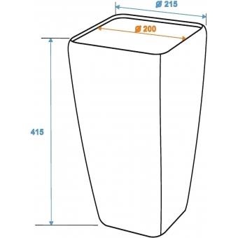 EUROPALMS Deco cachepot STONA-41, cubic, beige #6
