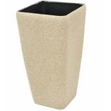 EUROPALMS Deco cachepot STONA-41, cubic, beige