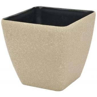 EUROPALMS Deco cachepot STONA-33, rectangular,beige