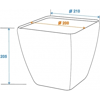 EUROPALMS Deco cachepot STONA-20, rectangular, grey #5