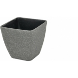 EUROPALMS Deco cachepot STONA-20, rectangular, grey