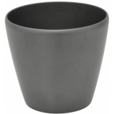 EUROPALMS Deco cachepot LUNA-20, round, silver