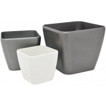EUROPALMS Deco pot LUNA-33, rectangular,espresso #2